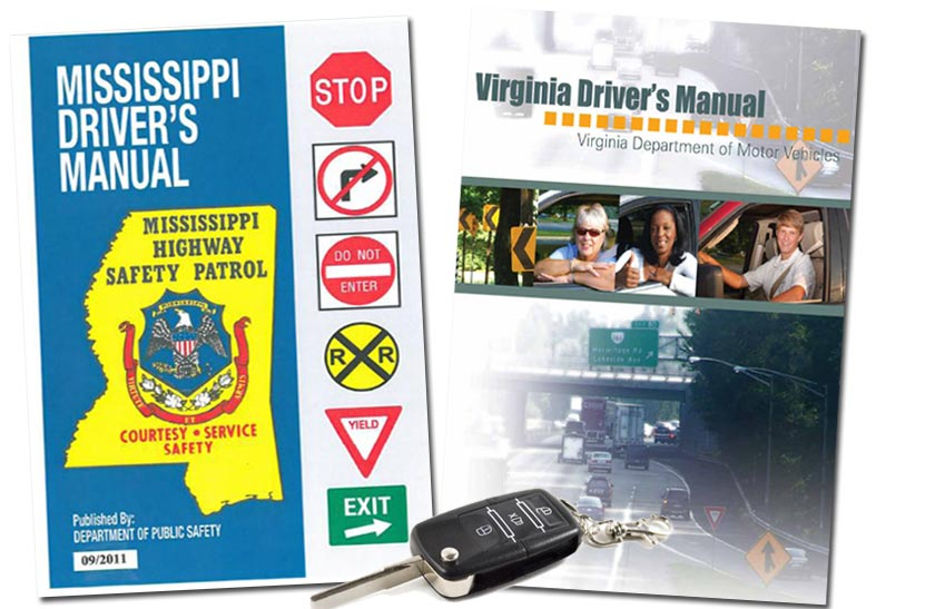 Mississippi and Virginia Driver's Manuals