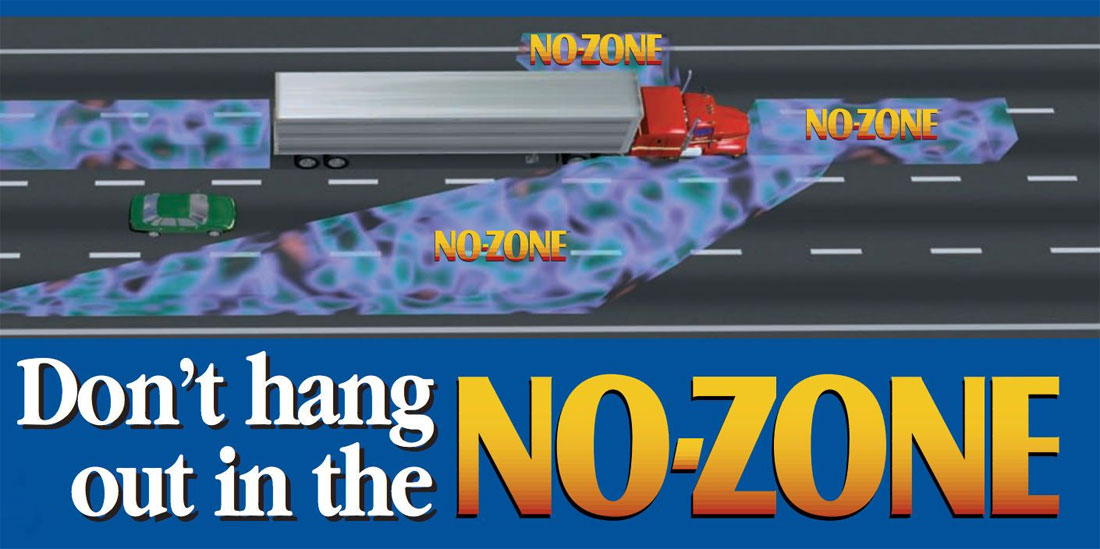 FHWA No-zone illustration