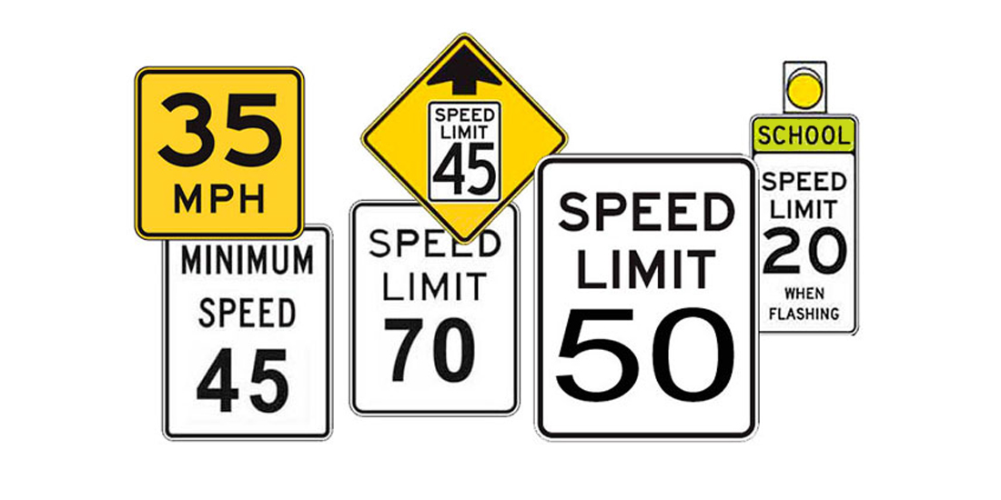 Speed Limit Signs - Basic Speed Law - Licenseroute