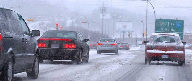 Highway 7 in Winter by Elmuzzerino