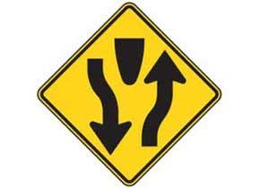 Begin Divided Roadway