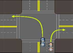 Turning at intersection