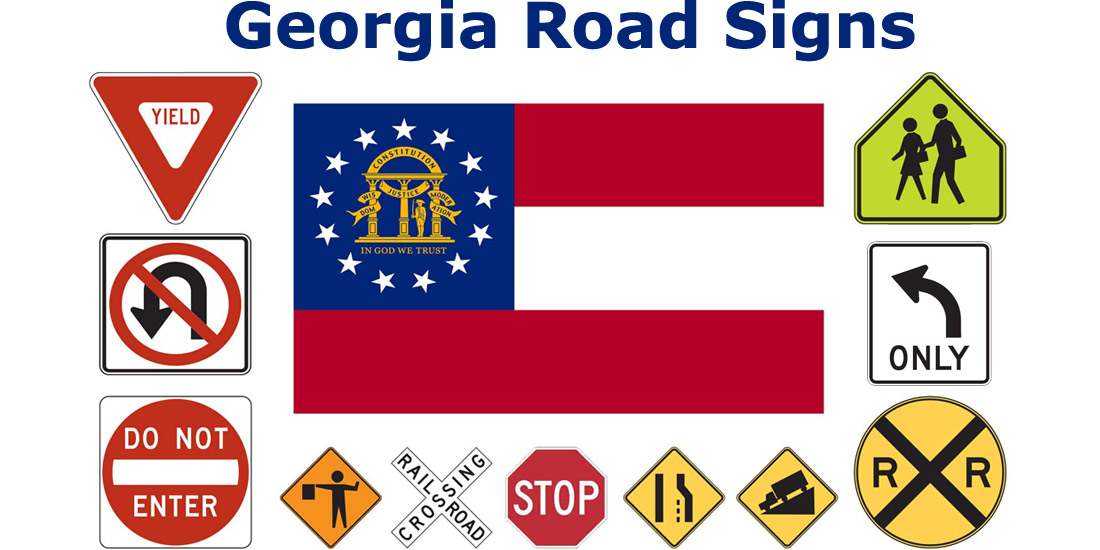Georgia Road Sign Recognition Test - courtesy of driversprep.com