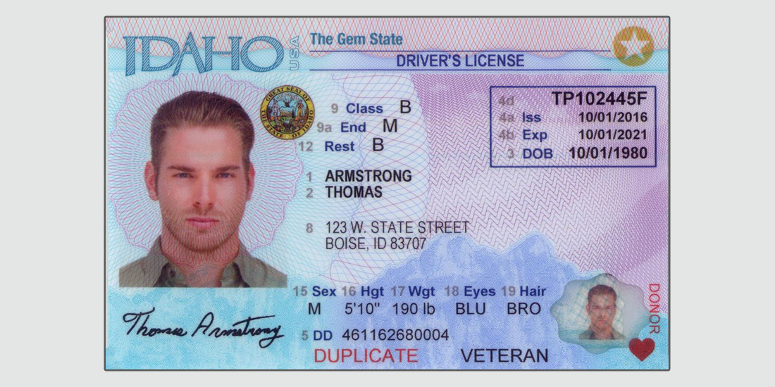Idaho Driver License - Testing