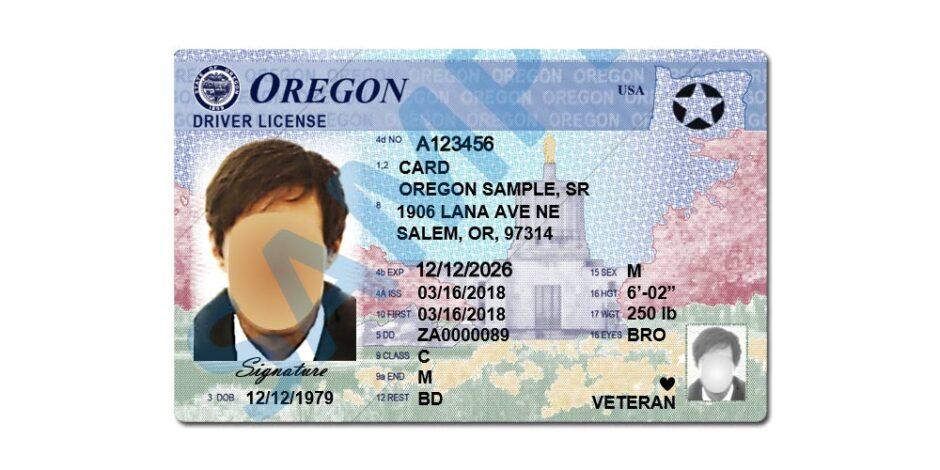 Oregon Driver License - Star - 2021