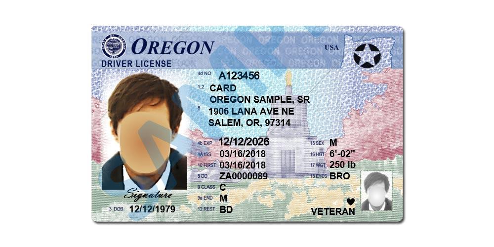 Oregon Driver License – Star – 2021