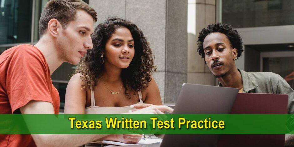 Texas Written Test Practice - Photo by William Fortunato