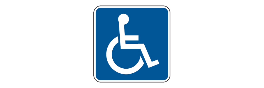 Handicapped international symbol of access D9 6