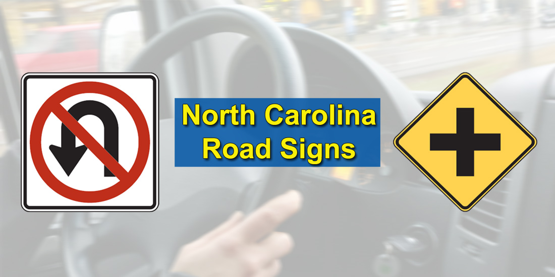 North Carolina Road Signs Test - Background photo by Ingo Joseph